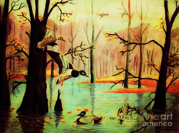 Wall Art - Painting - Autumn Glow by Hazel Holland