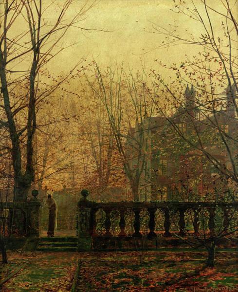 Wall Art - Painting - Autumn Glow by John Atkinson Grimshaw
