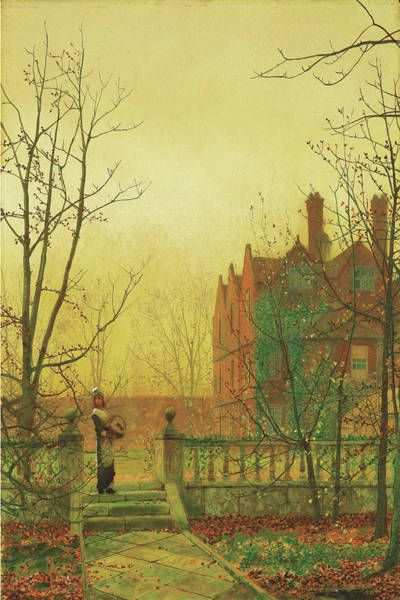 Painting - Autumn Gold By John Atkinson Grimshaw 1880 by John Atkinson Grimshaw