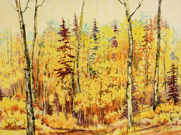 Painting - Autumn Gold by Connie Williams