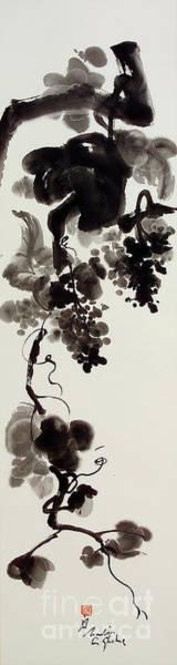 Autumn Grape Vine Painting Art Print by Nadja Van Ghelue