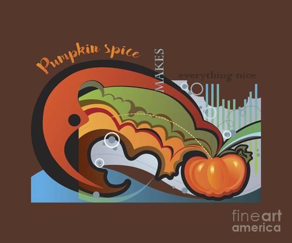 Digital Art - Autumn Greetings Card by Ariadna De Raadt
