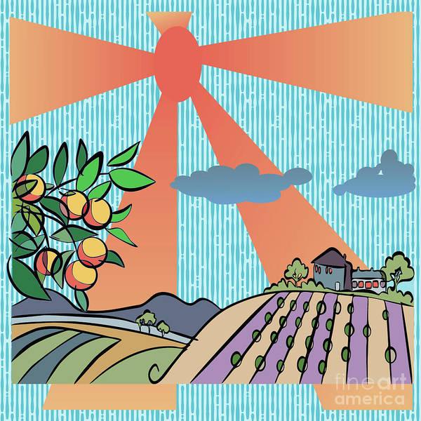 Digital Art - Autumn Harvest Illustration by Ariadna De Raadt