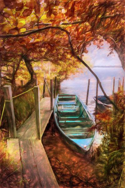 Photograph - Autumn Hideaway Painting by Debra and Dave Vanderlaan