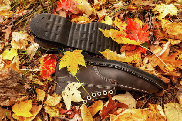 Wall Art - Photograph - Autumn Hiking Boots by Dan Carmichael
