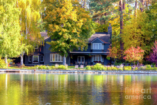 Photograph - Autumn House Canvas Print, Photographic Print, Art Print, Framed Print, Greeting Card, Iphone Case, by David Millenheft