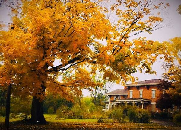 Wall Art - Photograph - Autumn House by Joyce Kimble Smith