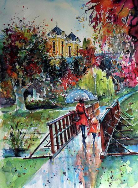 Wall Art - Painting - Autumn In My Hometown by Kovacs Anna Brigitta