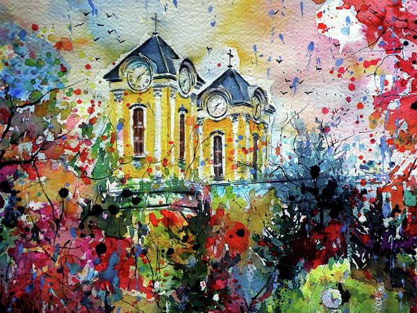 Wall Art - Painting - Autumn In My Town Cd by Kovacs Anna Brigitta