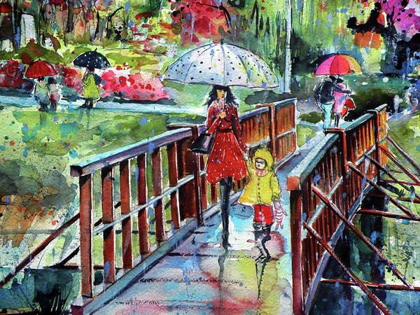 Wall Art - Painting - Autumn In My Town Cd2 by Kovacs Anna Brigitta