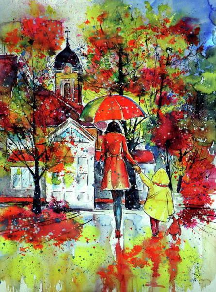 Wall Art - Painting - Autumn In My Town II by Kovacs Anna Brigitta