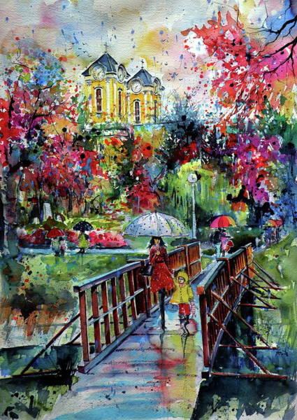 Wall Art - Painting - Autumn In My Town by Kovacs Anna Brigitta