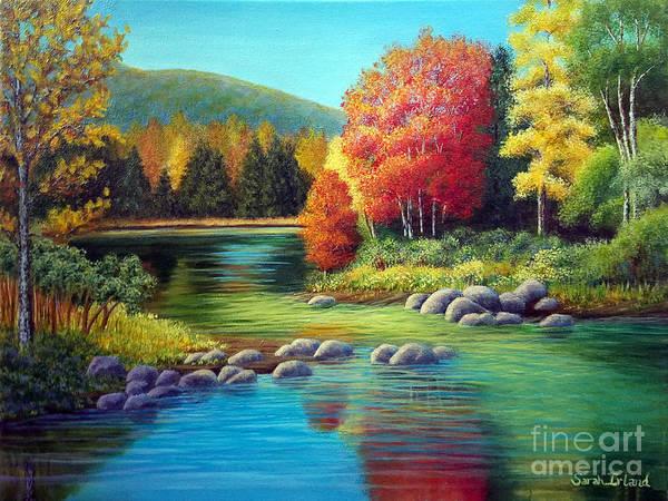 Adirondack Mountains Painting - Autumn In New York by Sarah Irland