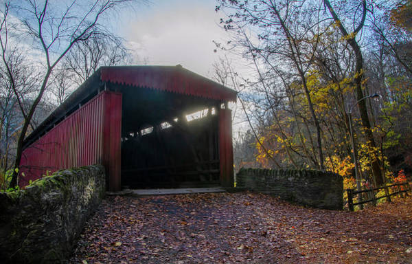 Photograph - Autumn In Philadelphia - Thomas Mill Bridge by Bill Cannon