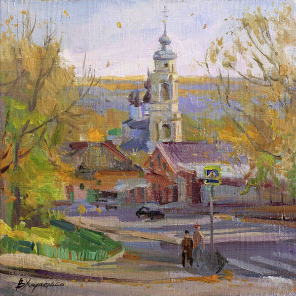Wall Art - Painting - Autumn In The Province by Victoria Kharchenko