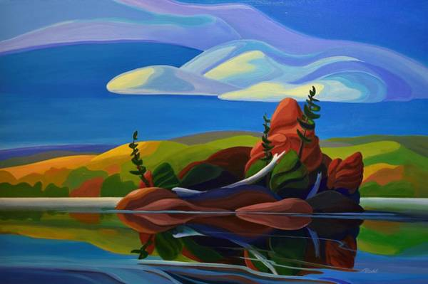 Painting - Autumn Island by Barbel Smith