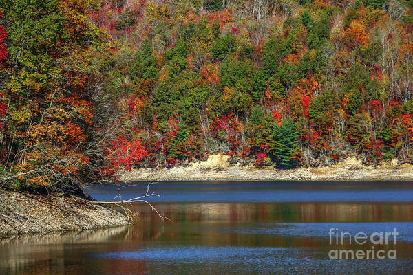 Photograph - Autumn Lake Scene by Tom Claud