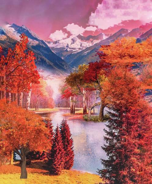 Photograph - Autumn Landscape 1 by AE collections