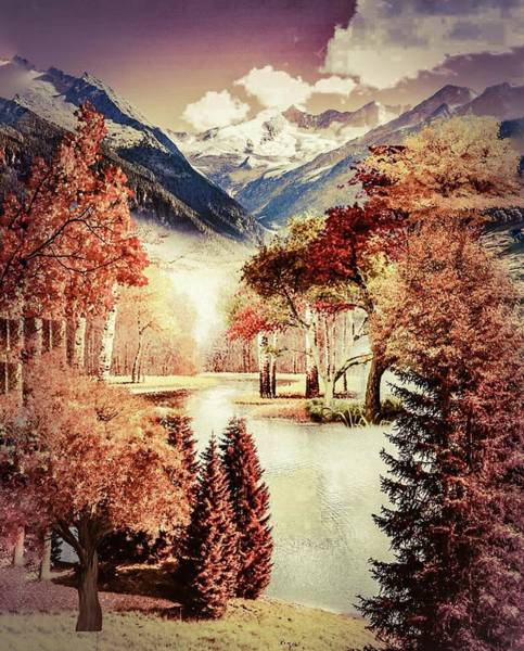 Photograph - Autumn Landscape 2 by AE collections