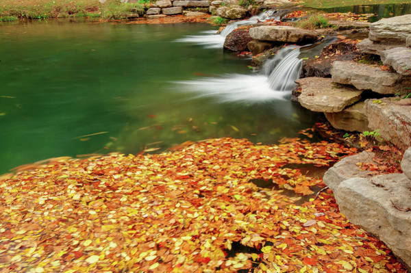 Photograph - Autumn Landscape Twin River Falls - Missouri by Gregory Ballos