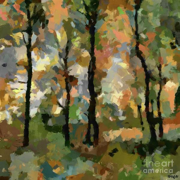 Wall Art - Painting - Autumn Late Afternoon by Dragica Micki Fortuna