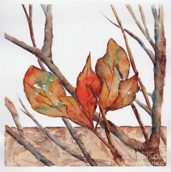 Painting - Autumn Leaves Amongst The Twigs by Pat Katz