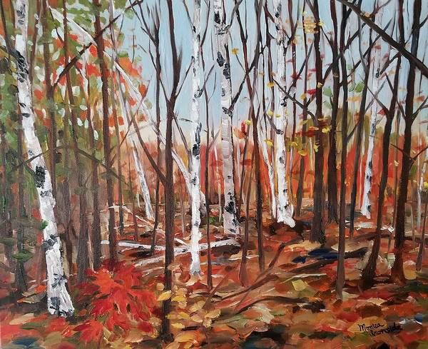 Painting - Autumn Leaves by Monica Ironside