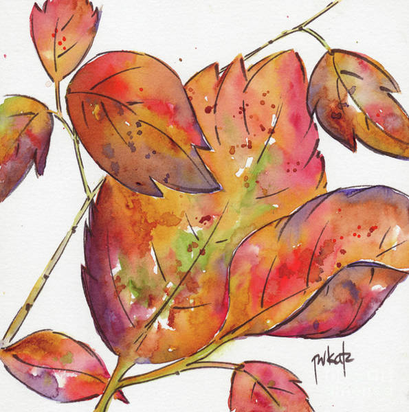 Painting - Autumn Leaves Square by Pat Katz