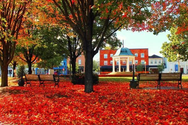 Photograph - Autumn Main Street by Candice Trimble