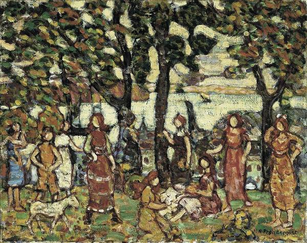 Wall Art - Painting - Autumn Maurice Prendergast by Celestial Images