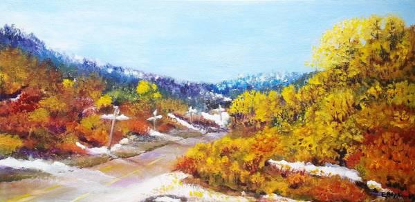 Okanagan Valley Painting - Autumn. Meet Winter. by Eileen Hopkins
