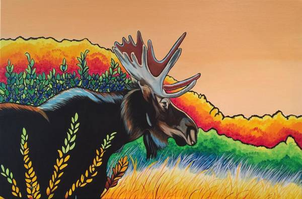 Painting - Autumn Moose by Sonja Jones