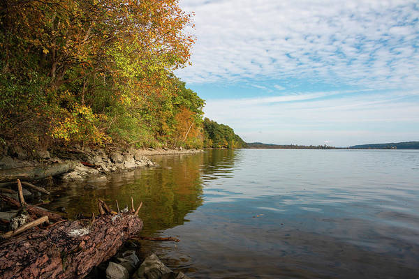 Photograph - Autumn Morning Along The Hudson by Jeff Severson
