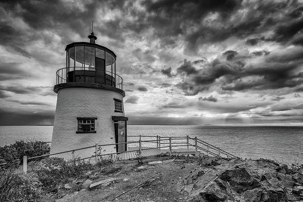 Photograph - Autumn Morning At Owls Head Black And White by Rick Berk