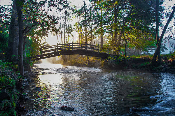 Wall Art - Photograph - Autumn Morning - Bow Bridge - Valley Forge by Bill Cannon