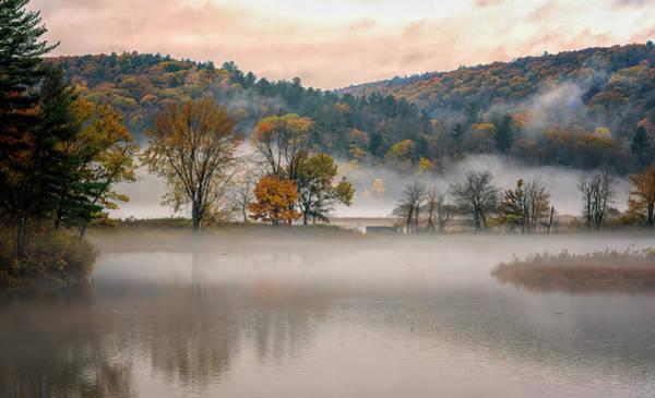 Photograph - Autumn Morning Fog by Tom Singleton