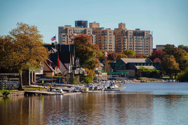 Photograph - Autumn Morning In Philadelphia - Boathouse Row by Bill Cannon