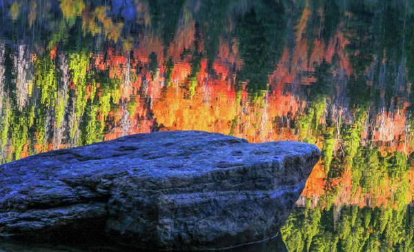 Wall Art - Photograph - Autumn Morning Reflections Bear Lake by Dan Sproul