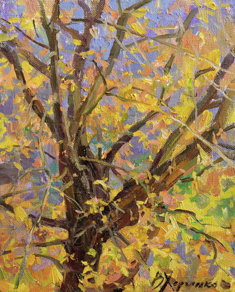 Wall Art - Painting - Autumn Morning by Victoria Kharchenko