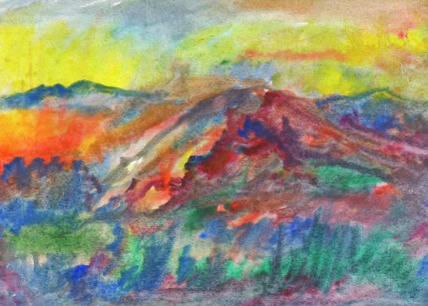 Painting - Autumn Mountain Abstract by Irina Dobrotsvet