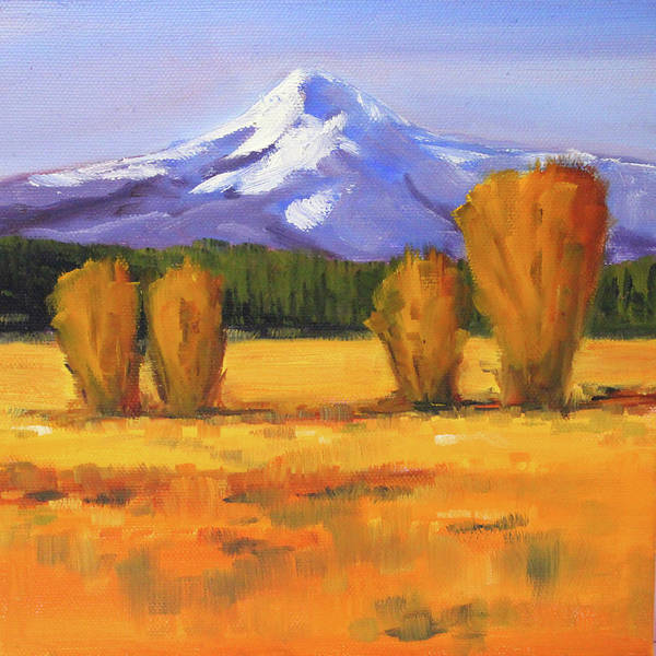 Wall Art - Painting - Autumn Mountain by Nancy Merkle