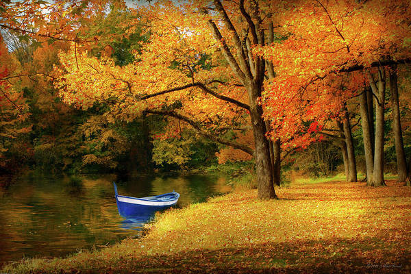 Photograph - Autumn - My Favorite Fishing Spot by Mike Savad