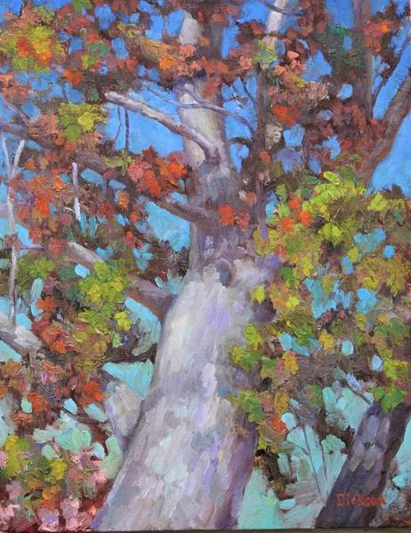 Painting - Autumn Oak by Jeff Dickson