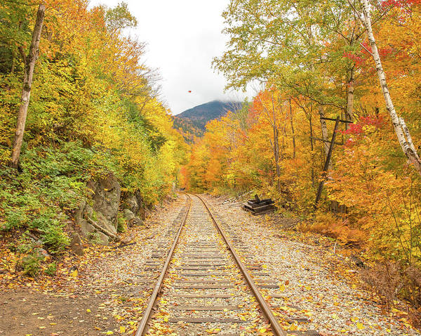 Wall Art - Photograph - Autumn On Crawford Notch Railway by Dan Sproul