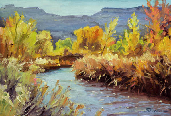 Painting - Autumn On The Fremont River  by Steve Henderson
