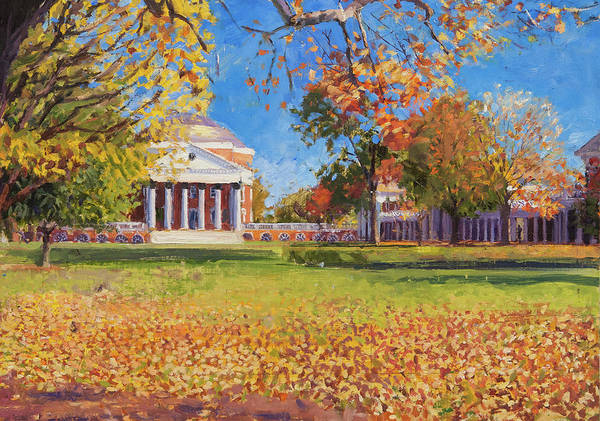 Wall Art - Painting - Autumn On The Lawn by Edward Thomas