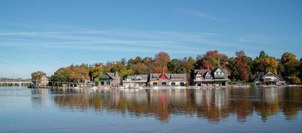 Photograph - Autumn On The River - Boathouse Row by Bill Cannon