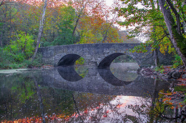 Wall Art - Photograph - Autumn On The Wissahickon Creek At Bells Mill by Bill Cannon