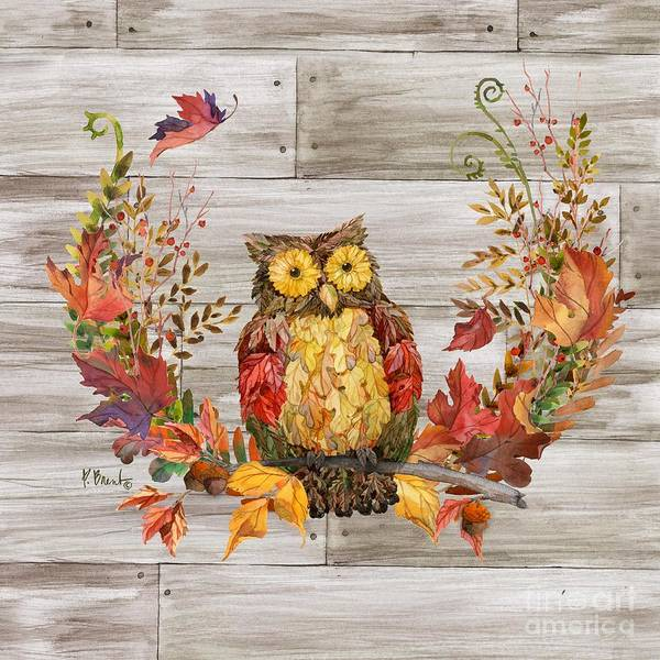 Wall Art - Painting - Autumn Owl by Paul Brent