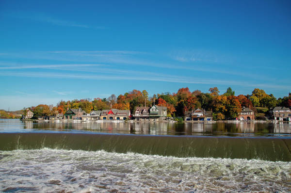 Photograph - Autumn Peak Colors - Boathouse Row by Bill Cannon